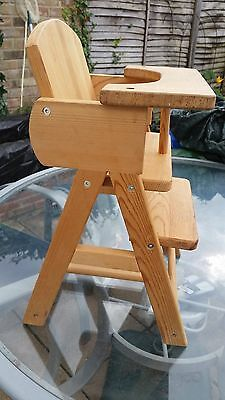 Doll's Solid Wood High Chair