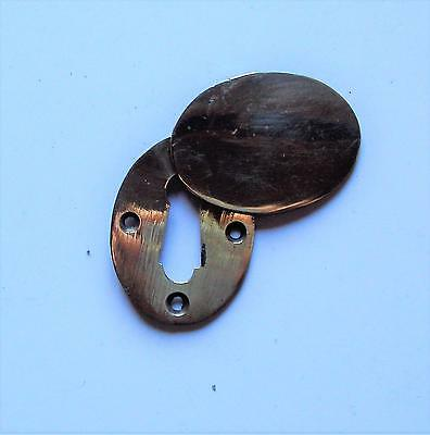 """Victorian Key Hole Escutcheon with Swing Cover for 1.1/8"""" (30 mm) Keys"""