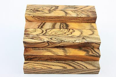 "5 inch long exotic tiger stripe wood pen/small turning project blank 3/5""×3/5"""