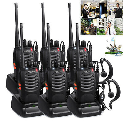 6X Baofeng Walkie Talkie UHF 2-Way Radio 16CH 5W BF-888S Long Range 400-470MHZ