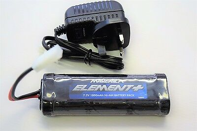 Maverick Strada SC   7.2v Battery And Charger Set 1800mah With Tamiya Connection