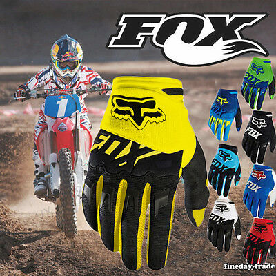 Hot FOX Full Finger Racing Motorcycle Cycling Bicycle MTB Bike Riding Gloves UK