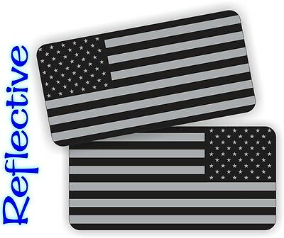 2x REFLECTIVE American Flag Black Ops Hard Hat Stickers Decals |  Stealthy Flags