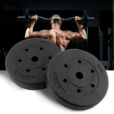 1 Pair 10KG Heavy Duty Weight Plates for Dumbbells & Weight Lifting Bars UK Ship
