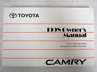 1998 toyota camry owners manual guide book u2022 19 22 picclick rh picclick com 1998 toyota camry service manual download 1998 toyota camry service manual download