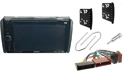 Frame + Adapter in FORD Transit Mondeo for Autoradio 2DIN Radio faceplate