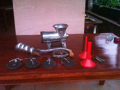 Used Meat Mincer No 32 with all attachments