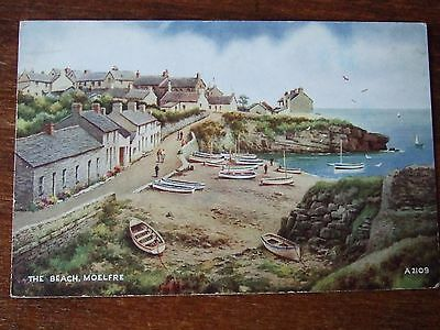 Moelfre. The Beach, nr Bangor, Holyhead,  Anglesey, Valentines PC # A2109