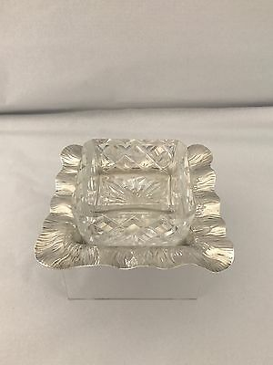 Solid Silver Edwardian Art Nouveau Butter Dish 1902 Sheffield
