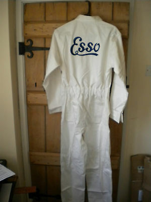 Goodwood Revival Ready Reproduction Retro Esso Embroidered Cotton Overalls