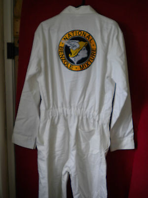 Goodwood Revival Ready Reproduction Retro Nat.benz Embroidered Cotton Overalls