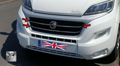 Fiat Ducato 2014Up Chrome Front Grill 3Pcs. S.Steel