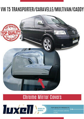 VW T5 TRANSPORTER 2003-2010 Chrome Mirror Cover 2Pieces Stainless Steel(RHD)
