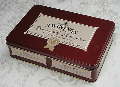 Collectable Twinings of London Speciality Selection Tea Tin *Hinged Lid *VGC