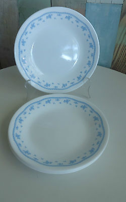 Pretty Vintage Corelle Corning USA Bread & Butter Side Plates x 4 *Morning Blue