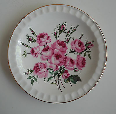Weatherby Royal Falcon England Durability Ironstone Sml Plate *Pink Peony Roses