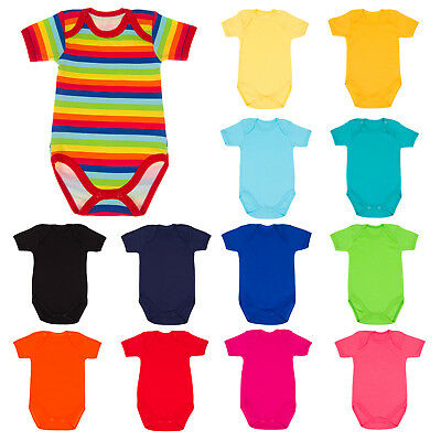 Short Sleeved Bodysuit Vests Baby Girls Boys 0-3 Years Cotton Spring/Summer