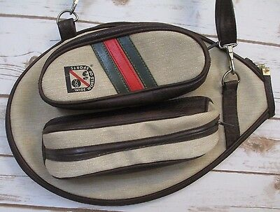 Vintage ABC Wide World of Sports Tennis Racquet Cover With Zipper Pockets #384A
