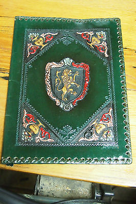 Italian Tooled Leather Journal / Book Cover - Green