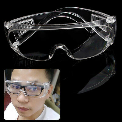 Safety Clear Vented Goggles Eye Protection Lab Anti Fog Protective Glasses PE
