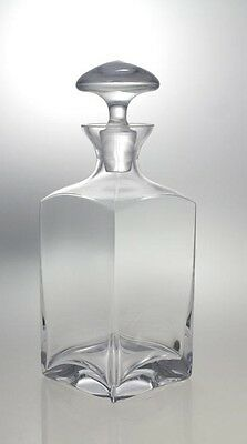 Glass Whiskey Decanter 750 ml Brandy Liquer Sherry Scotch Carafe Bottle Crystal
