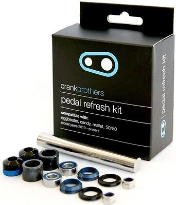 Crank Brothers Pedal Refresh Kit 2010+ Rebuild Service 5050 Candy Mallet New
