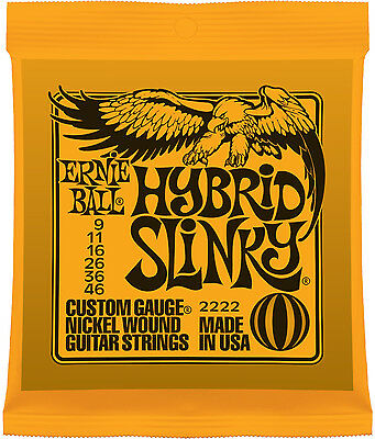Ernie Ball 2222 Hybrid Slinky Nickel Wound Guitar Strings 9-46