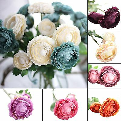 Artificial Fake Rose Silk Flower Wedding Party Bridal Bouquet Home Decoration