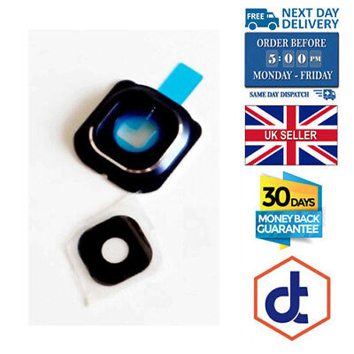 New Glass Camera Lens Cover Frame For Samsung Galaxy S6 & ADHESIVE PART