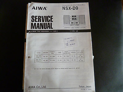 Original Service Manual  AIWA   NSX-D9