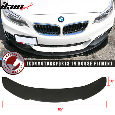 Universal V1 Style 65x16 Inch Front Bumper Lip Spoiler - Polyurethane (PU)