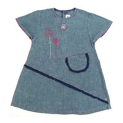 Sucre d'orge robe  manches courtes en chambray taille 18 mois