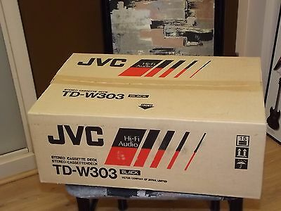 JVC TD-W303 Stereo Double Cassette Tape Deck Player / Recorder NEW In Box