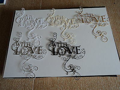 Tattered Lace Loving Flourish Die Cuts (New Release) X 10 Mixed