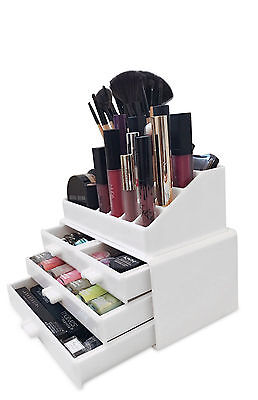 Oi Labels™ Acrylic Make-Up Cosmetics Jewellery Organiser Stand - White
