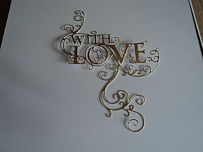 Tattered Lace Loving Flourish Die Cuts (New Release) Gold X 10