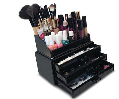 Oi Labels™ Acrylic Make-Up Cosmetics Jewellery Organiser Stand - Black