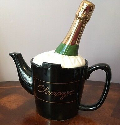 Decorative Collectable Teapot -Champagne Bottle In A Bucket