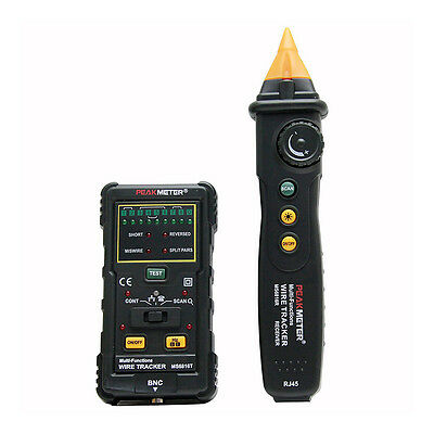 5x(PEAKMETER MS6816 Multi-Function Wire&Cable Tracker Tester Z4G6 W6O2