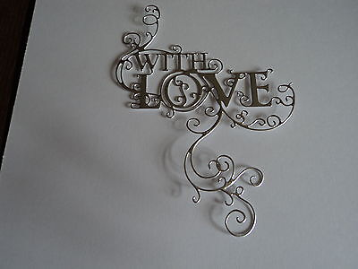 Tattered Lace Loving Flourish Die Cuts (New Release) Silver X 10