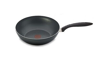 Tefal Basics 28cm Non-Stick Stirfry Wok Pan Bakelite Handle Thermospot
