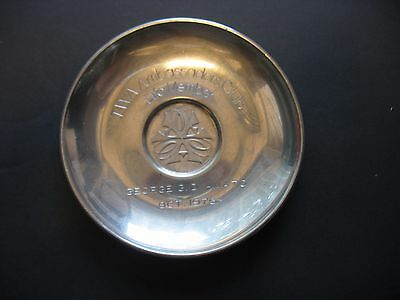 Cartier Pewter Coin / Jewelry Dish TWA Airlines Ambassador Club Life member 1976