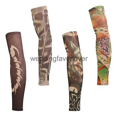 Cycling Arm Warmers Tattoo Oversleeve Arm Protective Cover Sun Protection