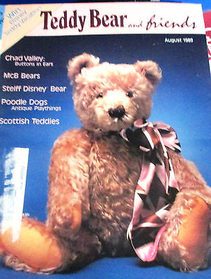 TEDDY BEAR AND FRIENDS~August 1989 Magazine~Chad Valley~Steiff~MCB~Poodle