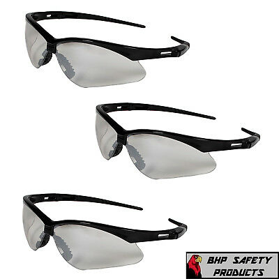 3 Pair Jackson Nemesis 25685 Safety Glasses Indoor/outdoor Lens With Black Frame