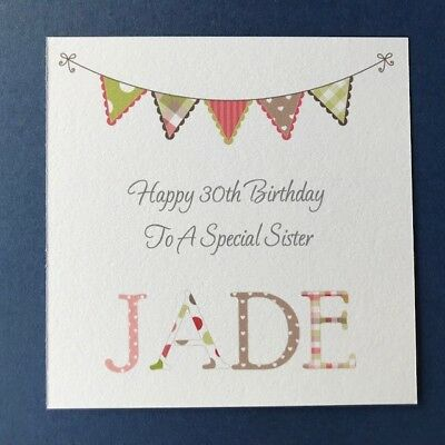 Personalised Female Birthday Card Friend Sister Daughter 30th 40th