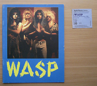 W.A.S.P. ELECTRIC CIRCUS TOUR PROGRAMME with Ticket stub Manchester Apollo 1986