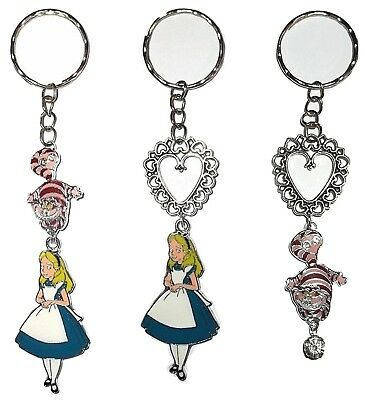 ALICE In Wonderland CHESHIRE CAT Keychain Keyring Key Chain Ring Pendant Disney