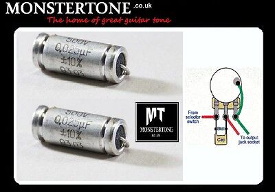 🎸7ender Stratocaster DUAL CAP Mod PAPER IN WAX PIW tone capacitor &Treble Bleed