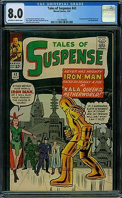 Tales of Suspense 43 CGC 8.0 - OW/W Pages